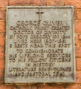 George Oliver Plaque - Public Domain